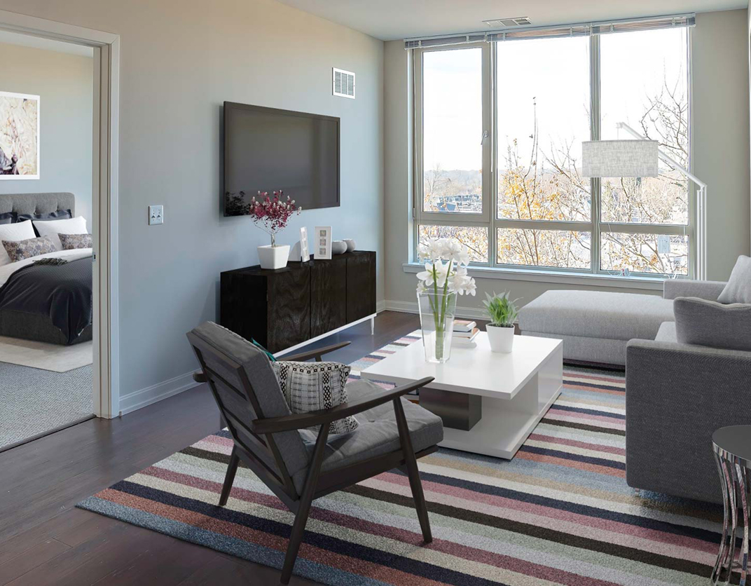 One Ardmore Apartment Homes - Ardmore, PA - Interior Living Room